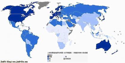 澳大利亚,美国,加拿大,新西兰人类发展指数排名